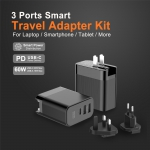 3 Ports Smart Travel Adapter Kit