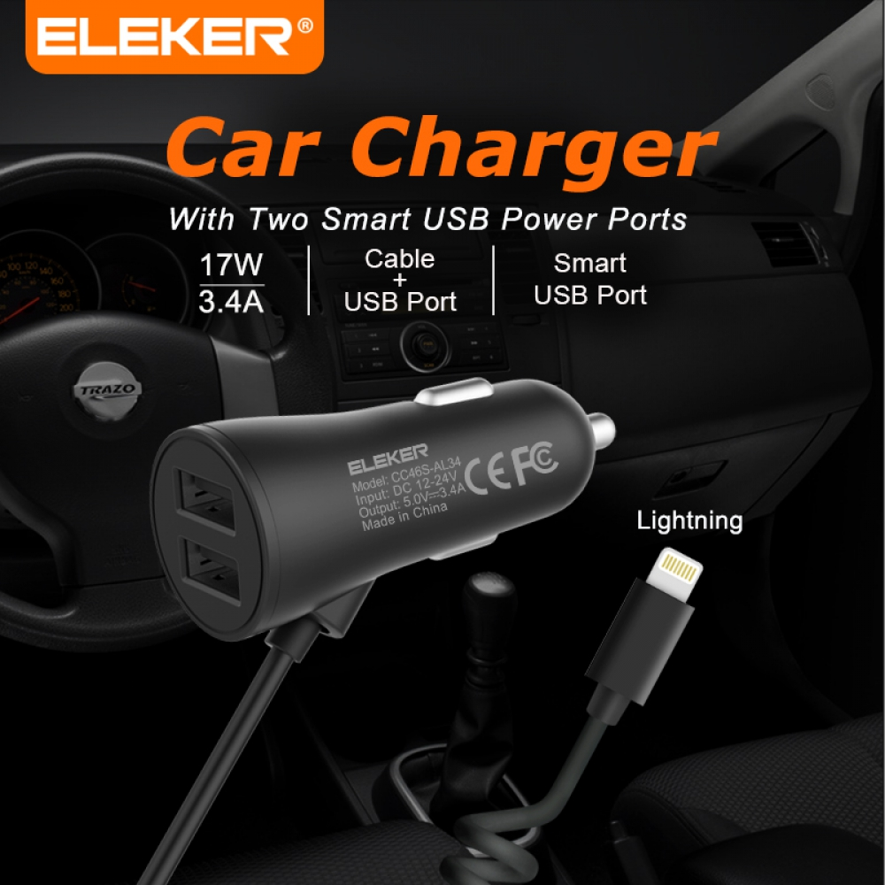 3.4A Apple Intelligent Car Charger