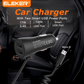 3.4A Android Intelligent Vehicle Charger