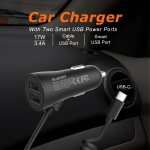 3.4AType-c Intelligent Vehicle Charger